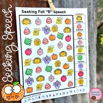 Fall Speech Therapy Seeking Activity {articulation}