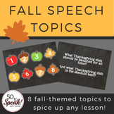 Fall Speech Topics