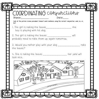 Fall Speech and Language Activities   Grammar Worksheets