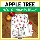 Fall Speech and Language Apple Tree Dot-It Activity