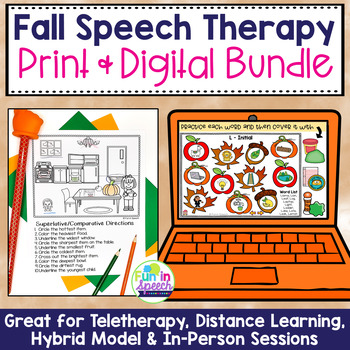 Fall Speech and Language Mega BUNDLE!