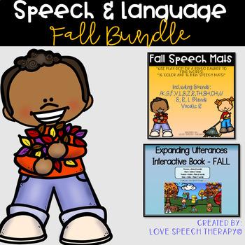 Fall Speech and Language BUNDLE