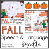 Fall Speech and Language Activities Bundle for Speech Therapy