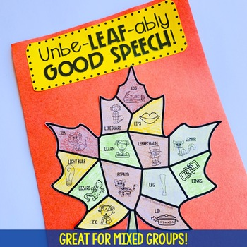 Fall Speech and Language Craftivity: Colorful Autumn Leaves