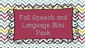 Fall Speech and Language MINI Pack