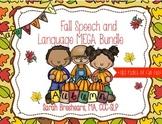 Fall Speech and Language Mega Bundle