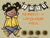 Fall Speech and Language Pack