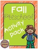 Fall Speech and Language Preschool Activity Pack