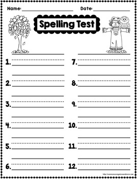 Fall Spelling