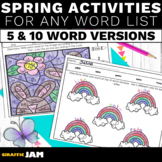 Spring Spelling Activities for Any Word List | Editable Spelling Homework