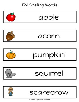 Fall Spelling Books (Adapted Book)