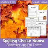 EDITABLE Fall and Autumn Spelling Choice Menu