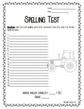EDITABLE Fall and Autumn Spelling Choice Board for Back to School