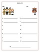 Fall Spelling List Templates
