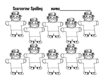 Fall Spelling Sheets