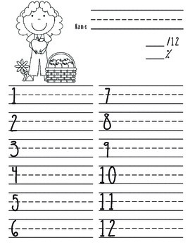 Fall Spelling Test Blanks