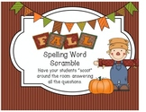 Fall Spelling Word Scramble