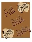 Fall Spelling Words