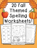 Fall Spelling Worksheets!