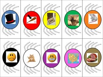 Fall Spider Literacy Center - CVC short a segmenting