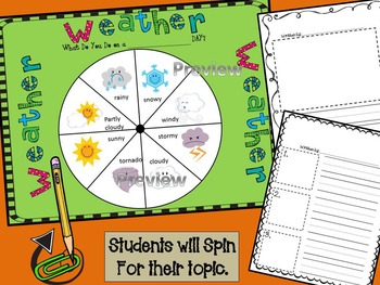 Writing Prompt Starter- Fall and Halloween Spin a Story (Centers, Writing)