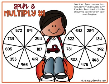 Fall Spin and Multiply - Multi Digit Multiplication