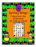 Fall Spooky Bingo Harvest Halloween Classroom Party Game &