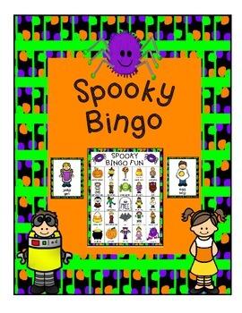 Fall Spooky Bingo Game & Calling Cards Halloween Fun 6 Boards