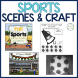 FALL SPORTS Barrier Games Activities Snip & Stick Crafts Speech Therapy