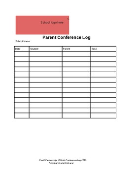 Fall/Spring Parent Conference Log