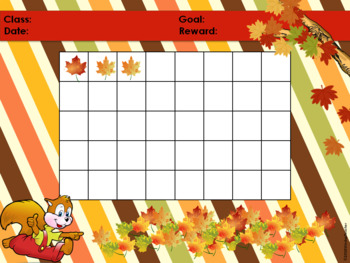 Fall Squirrel Classroom Behavior Management System *PowerPoints