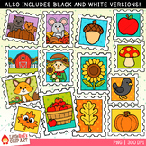 Fall Stamps Clip Art