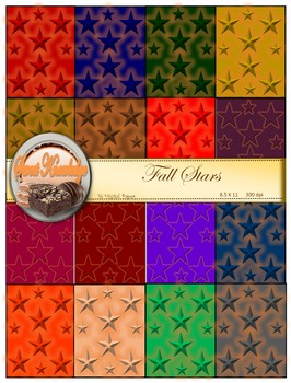 Digital Papers--Fall Stars