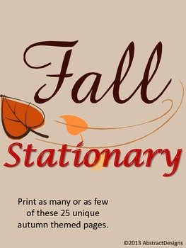 Fall Inspired Stationary