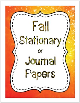 Fall Stationary or Journal Papers