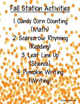 Fall Stations Bundle - First Grade (ALL SUBJECTS)