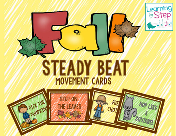 Fall Steady Beat Movement Cards