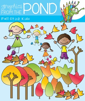 Fall Stick Kids - Clipart for Teaching Resources