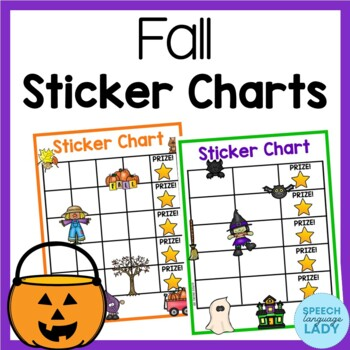 Fall Incentive Sticker Charts