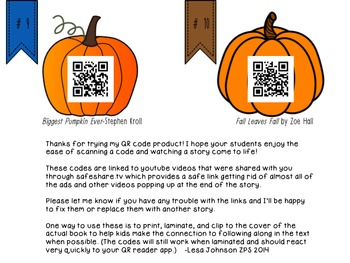 Fall Stories linked with QR codes