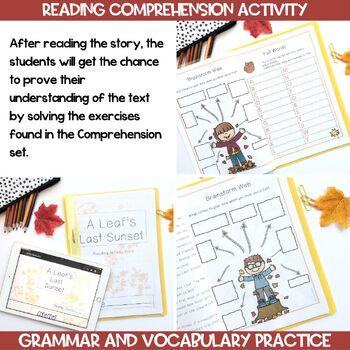 Fall Story Activity Book. Vocabulary,Comprehension, Grammar - #BTS2017
