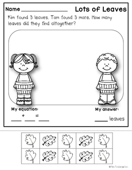 Fall Story Problems {addition & subtraction to 10}