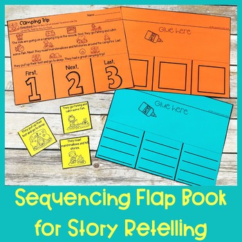 Fall Story Retelling and Sequencing Flap Books | First, Next, Last