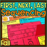 Fall Story Retelling and Sequencing Flap Books | First, Ne