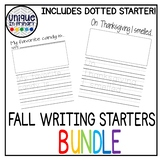 Fall Story Starters: with primary dot lines for tracing!
