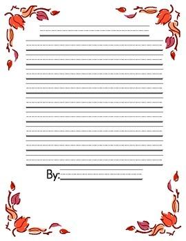 Fall Story Writing: Descriptive, Personal Narrative, Etc.