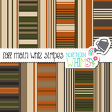 Fall Stripes Digital Paper for Crafts and Classroom Decor