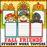 Fall Student Work Toppers Writing Craftivity
