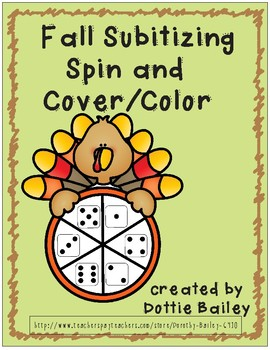 Fall Subitizing Spin and Cover/Color