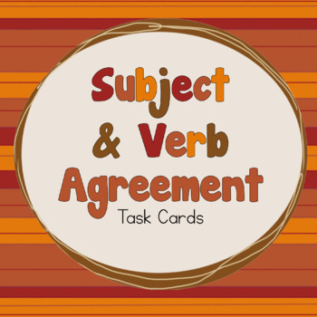 Fall-Themed Subject & Verb Agreement